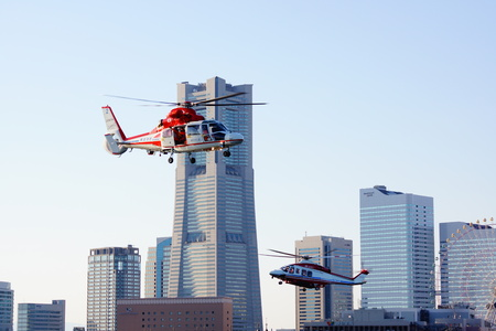 Fire helicopter to fly to the Minato Mirai Editorial