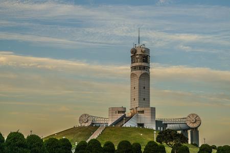 Yokohama Port Symbol Tower and sunset