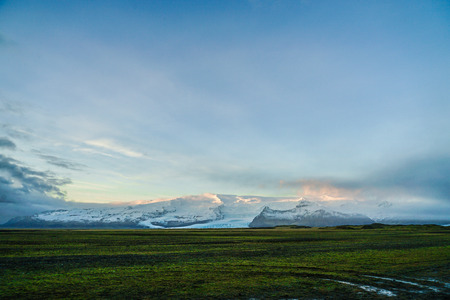 Iceland Fjallsárlón lake snow mountain of Reklamní fotografie