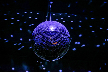 Purple mirror ball