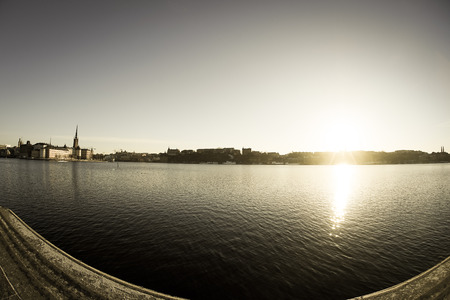 Stockholm city and sunrise 版權商用圖片
