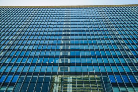 Sunny blue sky and the Akihabara of buildings