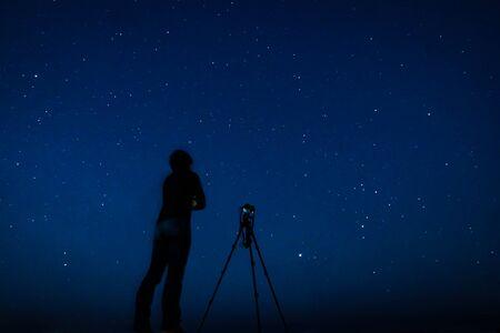 Man to shoot a starry sky