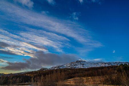 Scenery and sunrise of Iceland Geysir 写真素材 - 130061532