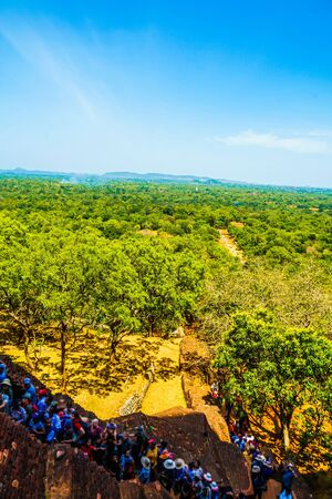 Scenery visible from the top of Sigiriya rock