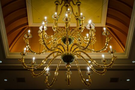 Image of luxurious chandelier of mansion 写真素材