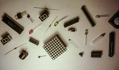 Electronic parts of the image that was casually placed 版權商用圖片