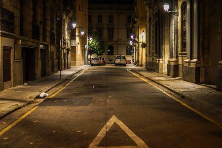 Spain Barcelona skyline (night view) 写真素材