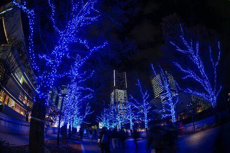 Christmas illuminations (Minato Mirai, Yokohama) Stockfoto