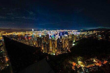 Hong Kong night view seen from Victoria Peak