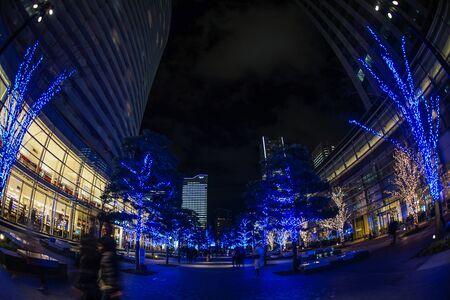 Christmas illuminations (Minato Mirai, Yokohama) Stockfoto - 137877099