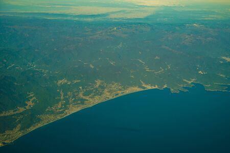 Japanese archipelago Aerial view of (Shizuoka Prefecture) Banco de Imagens