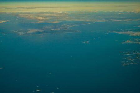 Japanese archipelago Aerial view of (Kansai and Shikoku)