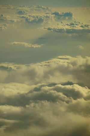 Image of the sea of clouds as seen from an airplane