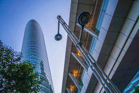 Skyscrapers of Shinagawa and evening 版權商用圖片 - 137926369