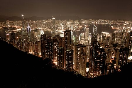 Hong Kong night view seen from Victoria Peak