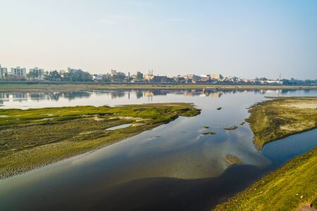 Yamuna River and the evening (India, Agra)