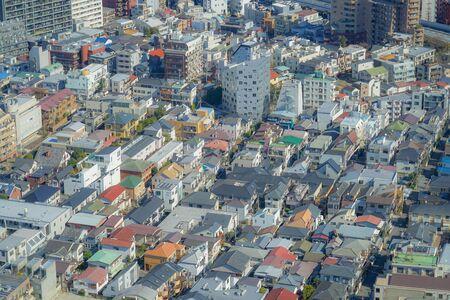 Tokyo skyline seen from the Ebisu Garden Place observatory