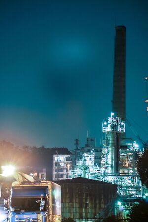 Factory night view of Kawasaki Keihin industrial zone