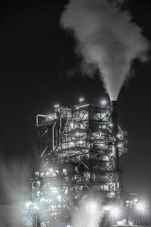 Factory night view of Kawasaki Keihin industrial zone Reklamní fotografie