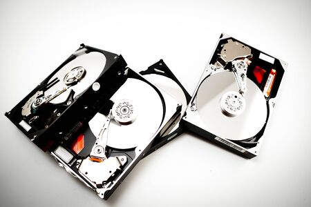 Image of the decomposed hard disk drive