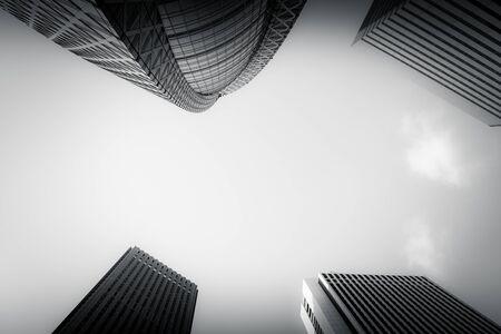Skyscrapers of Shinjuku-ku, Tokyo (monochrome)