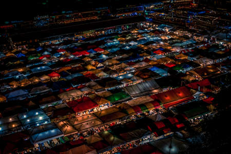 Night view of Talat lot Phi Ratchada (Thailand)