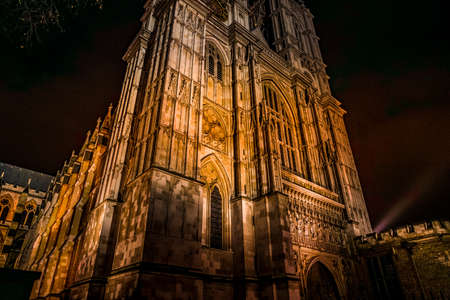 Westminster Abbey of night view (London)