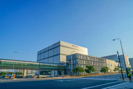 Toyosu market of the building of the image