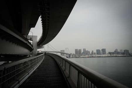 Tokyo skyline seen from the Rainbow Bridge