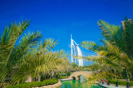 Burj Al Arab and blue sky (UAE · Dubai)