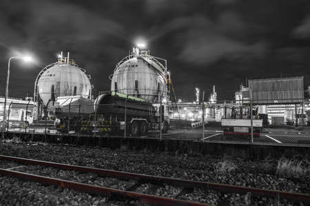 Factory night view of the Keihin region