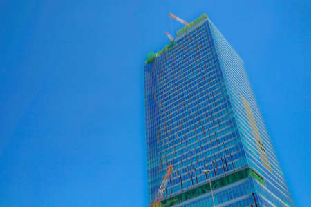 Building construction landscape of Shibuya-ku, Tokyo Фото со стока