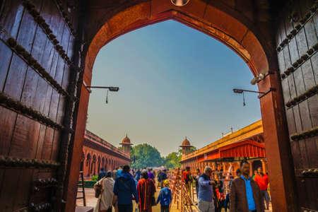 A private road leading to the Taj Mahal (India, Agra) Фото со стока
