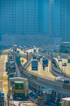Building group and the Metropolitan Expressway in Shinagawa
