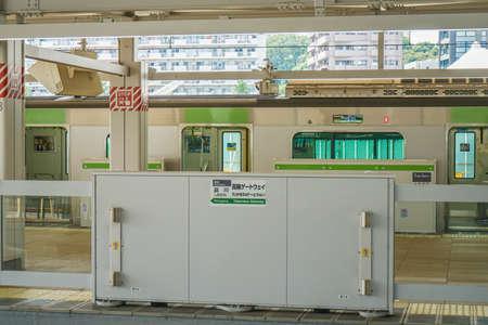 Image of Takawa Gateway Station Platform. Shooting Location: Tokyo metropolitan area