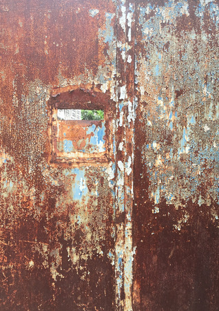 The Rust Wall 写真素材