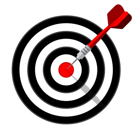 Target dart icon. Template vector design for business goal, advertising, shooting target marketing solutions concept. Ilustrace