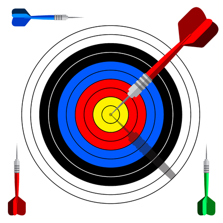 Target dart icon. Template vector design for business goal, advertising, shooting target marketing solutions concept.
