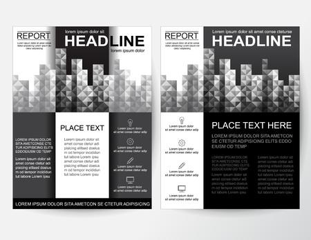 Folleto creativo, póster, pancarta, folleto de diseño abstracto blanco para empresas en tamaño A4.