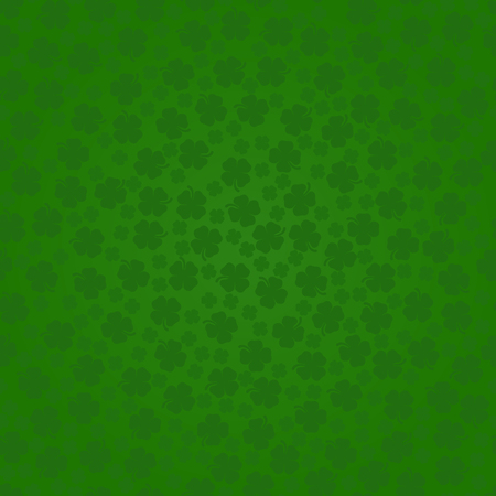 St. Patrick's Day Shamrocks The 4 Leaf Clover Lucky Seamless Background Vector Illustration