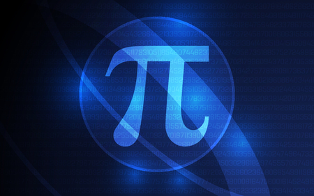 Happy Pi Day Banner March 14th 3.14 Digits of Pi Vector
