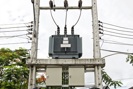 amp tower: Transformer on the pole