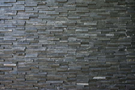 Black slate wall texture and background Stock Photo