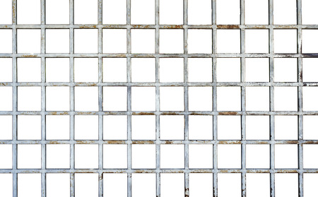 welded: Welded wire mesh, rebar on white background