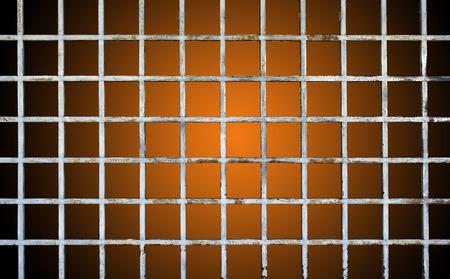 Welded: Welded wire mesh, rebar on orange background