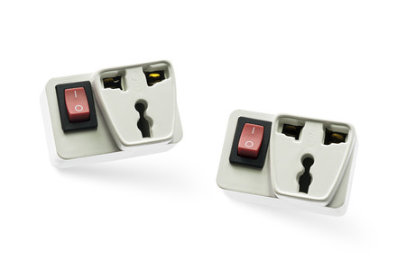 North American White Electric Wall Outlet Receptacle With Ground ...
