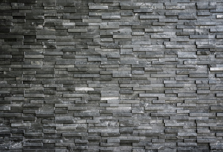 Black slate wall texture and background Banque d'images