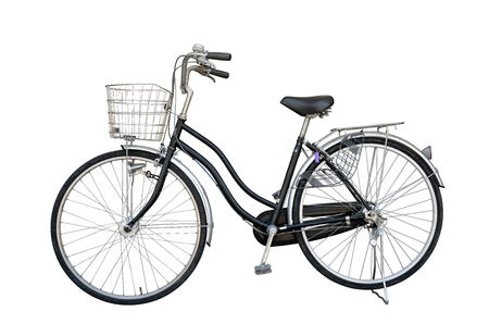 second hand: Bike black old maid for second hand from Japan, isolate on white background with clipping path