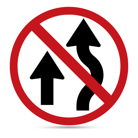 u turn sign: Traffic Sign, No Overtaking sign on white background